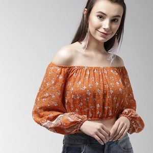 Forever 21 woven off the shoulder